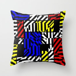 Best Abstract Art (Colored Squares Pattern) Throw Pillow