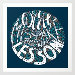 Forget the Mistake Remember the Lesson in Color Art Print