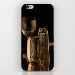 Glasses in Gold Tones iPhone Skin
