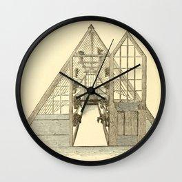 Antiquarian Greenhouse Wall Clock