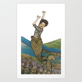 Look At This Mermaid, Isn't She Neat? Art Print