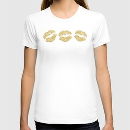 Gold Glitter Lips T-shirt