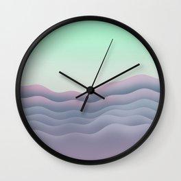 iso mountain sunset Wall Clock