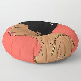 Nina Simone - with colors Floor Pillow