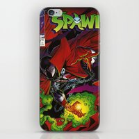 spawn iPhone & iPod Skins featuring Spawn 1 cover by Mr D's Abstract Adventures