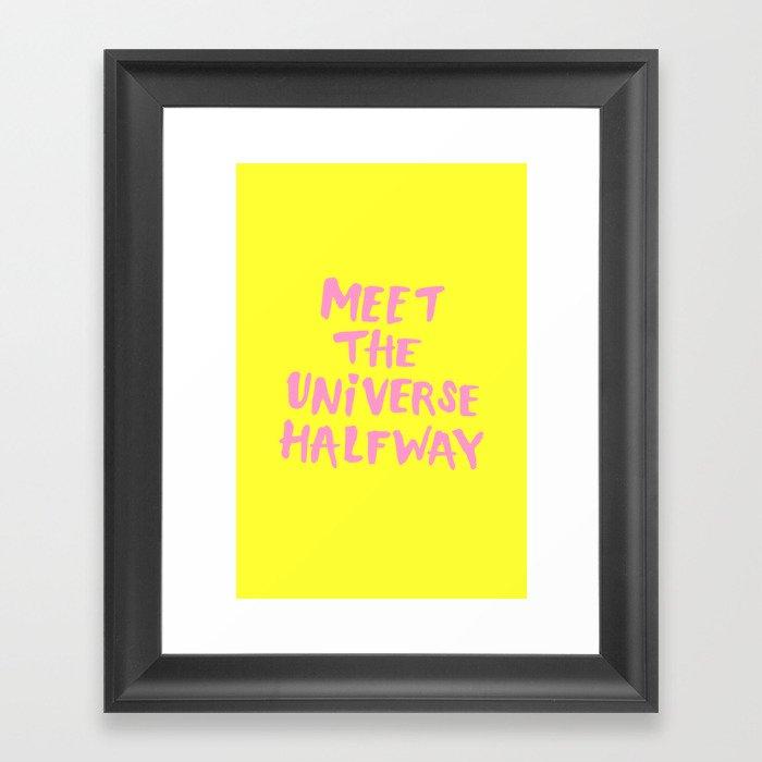 Meet The Universe Halfway Gerahmter Kunstdruck