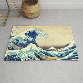 The Great Wave Off Kanagawa Katsushika Hokusai Rug