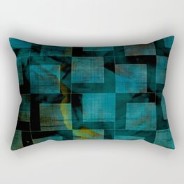 Nordic Shapes Dark Emerald Rectangular Pillow