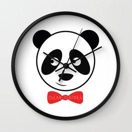 PANDA - CLEAN CLOTHES BY MELVIN JONES Wall Clock