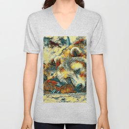AnimalArt_Bear_20170602_by_JAMColorsSpecial Unisex V-Neck