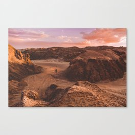 Sunset in Valle De La Luna, Chile Canvas Print