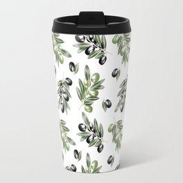 Watercolor Olives Travel Mug