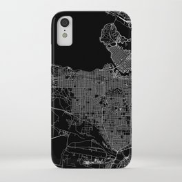 Vancouver Black Map iPhone Case