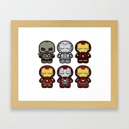 Chibi-Fi Iron Man Movie Armory Framed Art Print