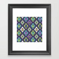 Scarabs Quilt Framed Art Print