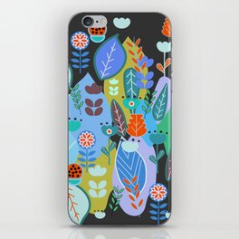 Midnight joyful inflorescence iPhone Skin