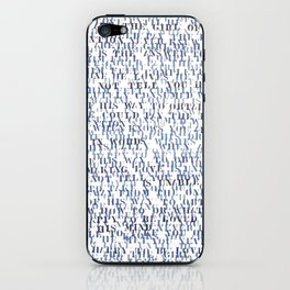 Sentences of Love Blue iPhone Skin