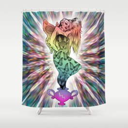 Rainbow Unicorn Nymph Shower Curtain