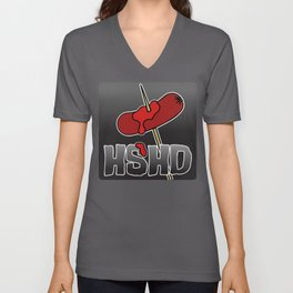 Horrorshow Hot Dog Logo - Cocktail Weenie variant Unisex V-Neck