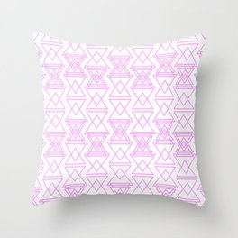 RIGHT AND WRONG I: EASY PINK Throw Pillow