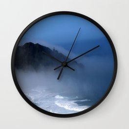 Lighthouse in the Fog Wall Clock