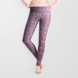 Pink Snake Skin Pattern Leggings