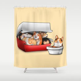 Corgi Nuggets Shower Curtain