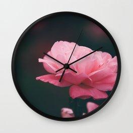 Pink Shadows. Wall Clock