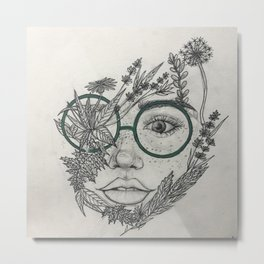 Interconnected Metal Print