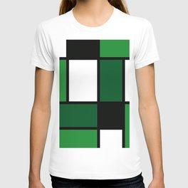 Green Mondrian T-shirt