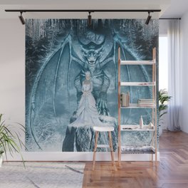 Ice Queen and Dragon Wall Mural