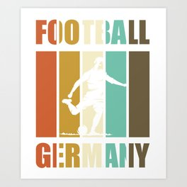Football Germany - soccer player vintage Art Print