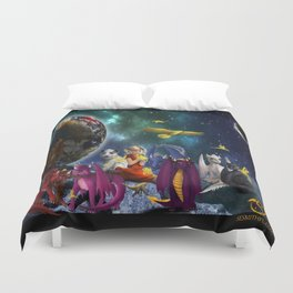 Dragonlings Space Party Duvet Cover