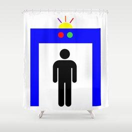airport metal detector Shower Curtain