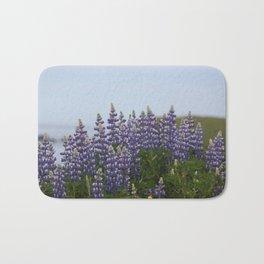 Lupine Flowers Photography Print Bath Mat