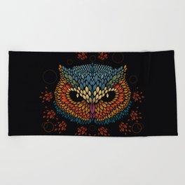 Owl Face Beach Towel