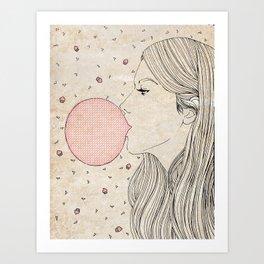 Bubble Gum Art Print