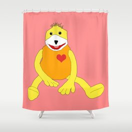 Sweet Hello from Flat E Shower Curtain