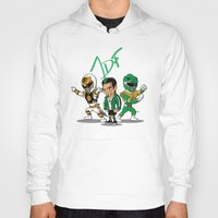 power rangers Hoodies featuring Power Rangers Legacy: Jason David Frank by HWM Designs