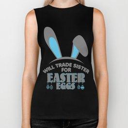 Trade Sister For Easter Eggs Bunny Funny Kids Biker Tank