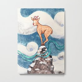 Winter Goat Metal Print
