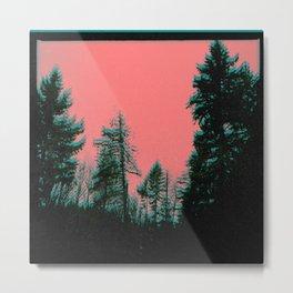 stereogram trees Metal Print