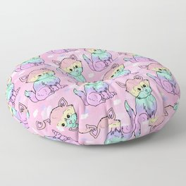 Rainbow Cats Floor Pillow