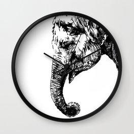 Thoughtful elephant Wall Clock