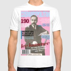 COSMARXPOLITAN, Issue 11 White MEDIUM Mens Fitted Tee