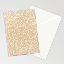 Hand Drawn Mandala // Taupe Tan Tribal Eclectic Intricate Modern Minimal Trending Popular Stationery Cards