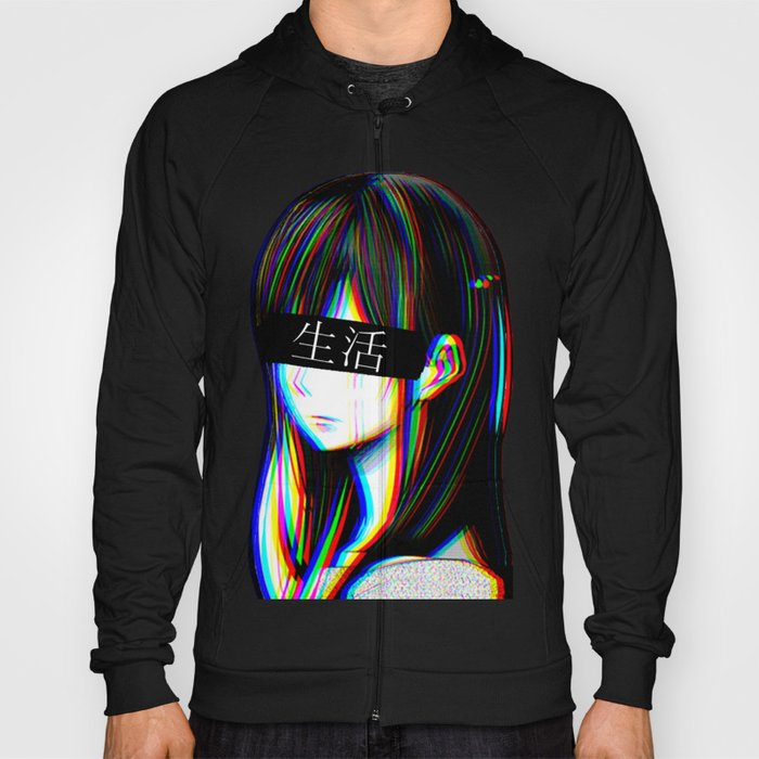 ART - SAD JAPANESE ANIME AESTHETIC Hoody