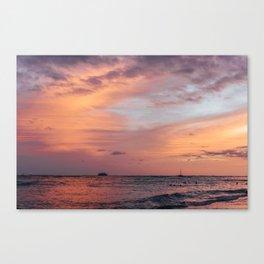 Cotten Candy Sunset Canvas Print