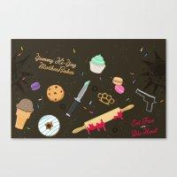 die hard Canvas Prints featuring Die Hard Desserts by Ashley Hay