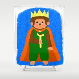 King of Teddyland Shower Curtain